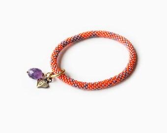 Bliss Purple Amethyst Roll on Bracelet