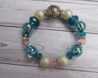 multi-beaded statement bracelet