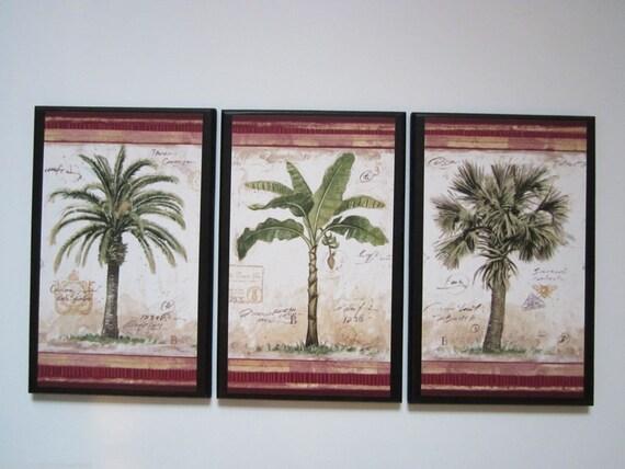 Items Similar To Palm Trees 3 Tropical Spa Bathroom Wall