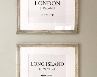 City Prints With Frame - Customize and Personalize
