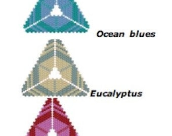 Peyote pattern for Hexangles beaded triangle pendant: Instant Downloadable Pattern PDF File