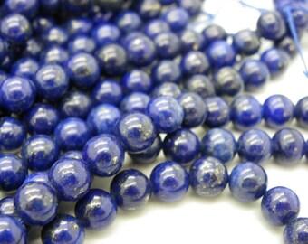 10 pearls 12 mm with Lapiz lazuli Blue 12mm