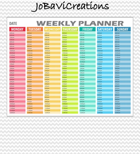 Sassy image with weekly hourly planner pdf
