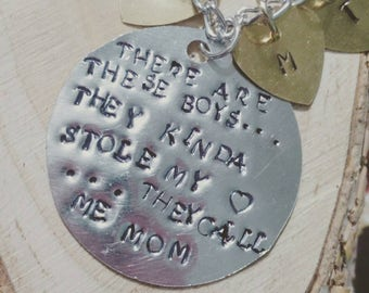 So there are these boys they kinda stole my heart they call me mom necklace