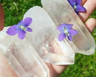 Clear Quartz Point- Large Raw Quartz Crystal Point- Clear Crystal Quartz- Raw Crystal Point- Rough Quartz Stone- Crystal Healing Stone