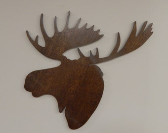 Virtual Trophy - Moose - antlers - veneer - plywoods - faux taxidermy