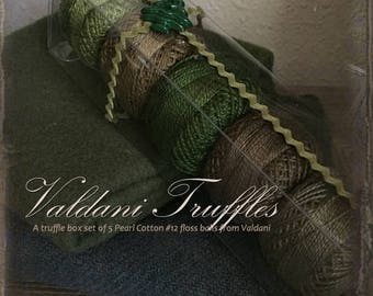 "Valdani Thread: Gift Set/5 Perle Cotton Embroidery Thread Balls - ""Northwest Pines"" Collection"