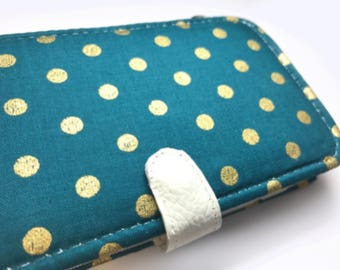 teal dots iPhone 8 Case iPhone 8 wallet case iPhone 8 Plus Case iPhone 8 Plus wallet case