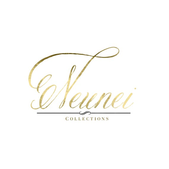 Luxe Faux Gold Calligraphy Logo Design Luxury Fancy Fahion Boutique Business