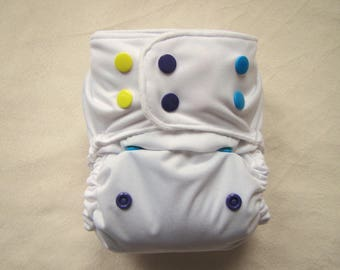 White Diaper Cover,Rainbow Cloth Diaper,Pocket Diapers, One Size Diaper, Cloth Diaper pattern, modern, bamboo insert, Cloth diapers,