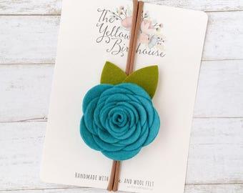 Rose Headband. Felt Flower Headband. Toddler Headband. Birthday Headband. Baby Rose Headband. Felt Flower Crown. Floral Crown. Shower Gift