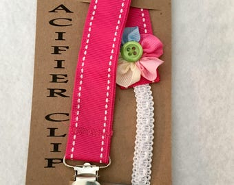 Pacifier Clip / Your choice of many styles