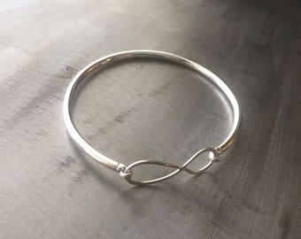 infinity chain bangle bracelet feather hand genuine arrival buckle silver leather new men plated bangles friendship item