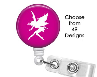 Fairy Badge Reel, ID Badge Holder clip, Medical Badge Reel, Mermaid Badge Reel, Pegasus Badge Reel, Believe badge reel clip