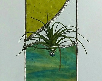 Stained Glass Air Plant Holder LG
