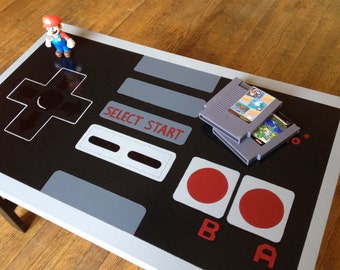 Custom Painted NES Nintendo Controller Coffee Table