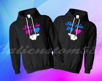 2 best friend BFF hoodies