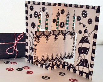 Downloadable Tangle Your Own - Birthday Card