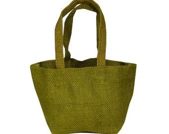 """4 « x 4 » x 4 """"Moss Jute Tote Bags (paquet de 6)"""