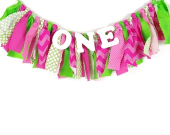 Watermelon Birthday Banner - Highchair Banner - Girl's Summer Party - Sweet Celebration - Girl's Birthday Party - Banner - Photography Prop