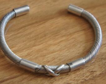 Vintage Sterling 925 Silver Mexican Cuff Bracelet - Heavy  W-150