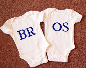 BROS Twin Set of Onesies