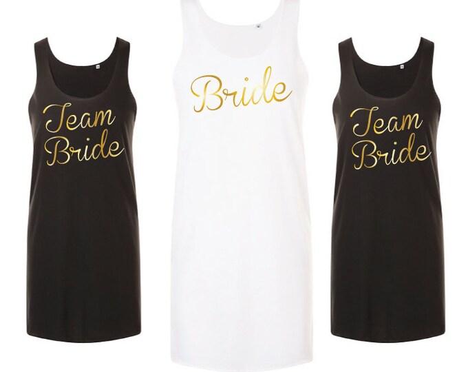 Featured listing image: Beach Bachelorette Party Dress   Bride Beach Dress   Team Bride   Hen Party   Beach Cover Up   Tank Dress   Wedding Party   Bridal Shower