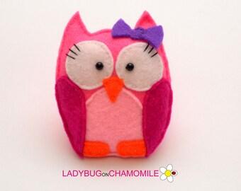 Felt CUTE OWL, stuffed felt Owl magnet or ornament, Owl toy,Nursery decor,Owl  magnet,kids toy, cute toy, felt toy