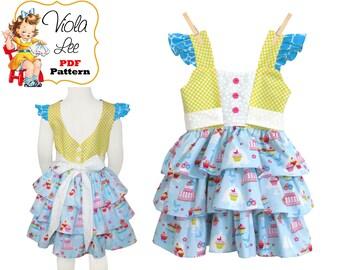 Girls Dress Pattern pdf, Girls Clothing Sewing Pattern, Toddler Dresses, Kids Patterns, Instant Download, Summer Dress Pattern, Caroline