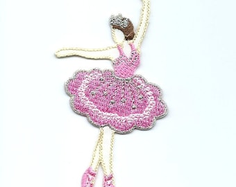 Ballet Dancer Iron On Patch Embroidered Applique