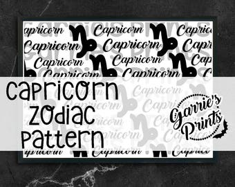 Printable | Zodiac | Capricorn Pattern |
