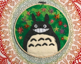 Totoro Hanging Wall Embroidery