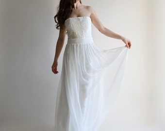 Wedding corset, wedding top, boho top, wedding separates, bridal corset, wedding bustier, alternative wedding dress, strapless wedding top