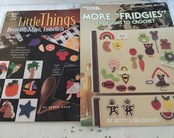 2 mini crochet easy frige magnets Crochet Books