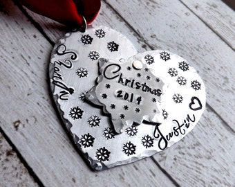 personalized Christmas ornament-couples Christmas ornament-our first Christmas-baby ornament