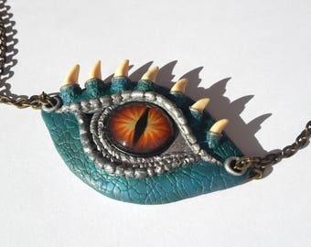 Dragon Eye Pendant, Dragon Necklace, OOAK