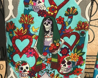 Day of the Dead Virgin Mary Kitchen Towel