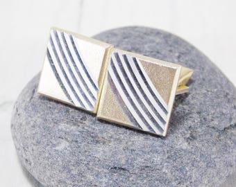 Anniversary gift fathers day gift vintage cufflinks celtic jewelry men gold cufflinks unisex cufflinks picture cufflinks elegant cufflinks