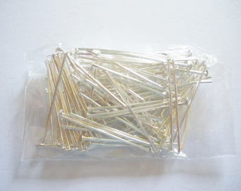 100 Silver 26 mm x 0.7 mm flat head nails