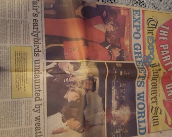 Ephemera ... The party is On  Expo 1986 in Vancouver Sun