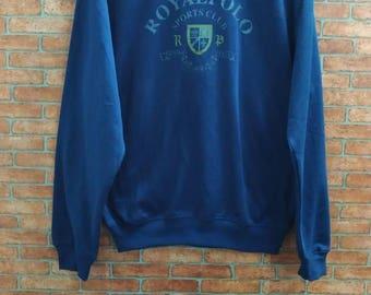 Rare!! RoyalPolo SportsClub Sweatshirt Medium Size