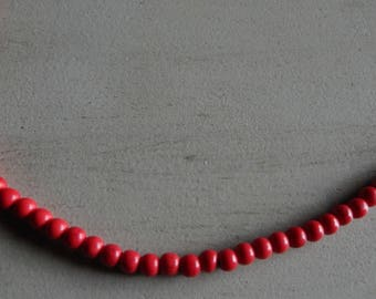 20 round beads red effect howlite Crackle 8 mm