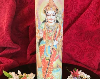 Durga Candle / Prayer candle / Candle lover gift / Unique candle gifts / 7 day candle / Goddess candle / Novena candle / Kali Candle