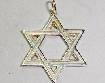 David star pendant in sterling silver