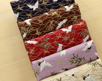 Fat Quarter Bundle Japanese Cotton Fabric Bundle 5 colors Kimono Cotton With Crane For Clothes Dolls- sets for 5