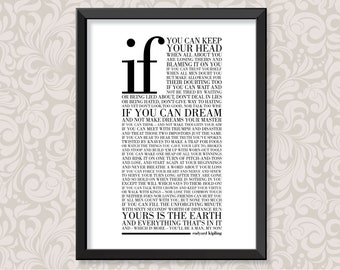 If by Rudyard Kipling (print in 5 colourways and 2 sizes: A4 and A3)