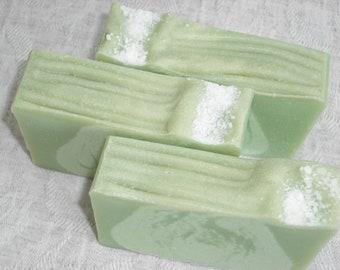 Lime Sea Salt Soap / Essential Oil Soap / Clean Crisp Citrus Scent / Cold Process Soap