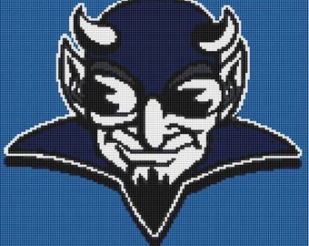 Duke Blue Devils Counted Cross Stitch Kit or Pattern Only