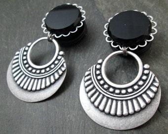 "Dangle Plugs - 3/4"" 19mm - Wedding Plugs - Hoop Gauges - Tribal Plugs - Gothic Gauges - Plug Earrings"
