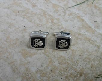 800 Silver and Onyx Cufflinks